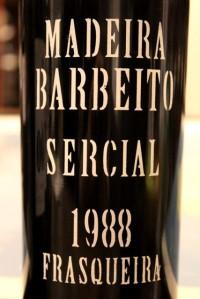 Sercial Frasqueira 1988