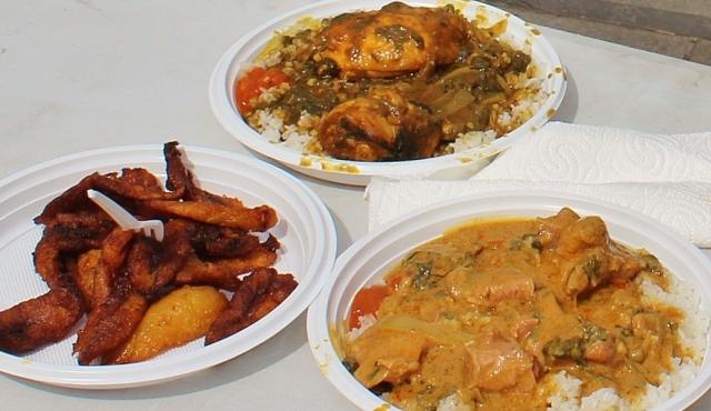 Flagey afrikanisches Essen
