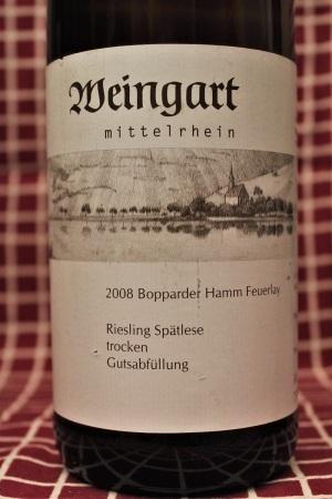 Weingart Riesling Bopparder Hamm Feuerlay 2008 Mittelrhein